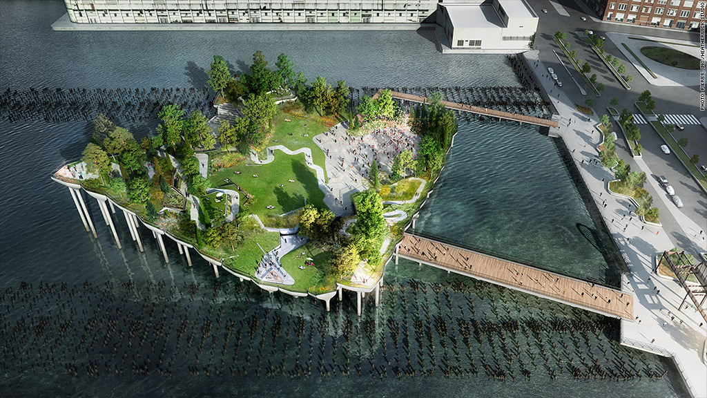 Barry Diller's Pier 55 Hudson River Floating Park A Go